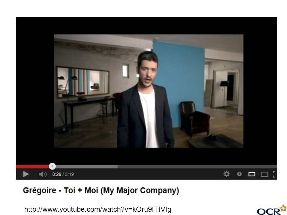 Link to the official video of Toi + Moi on Youtube