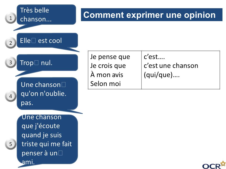 Comment exprimer une opinion