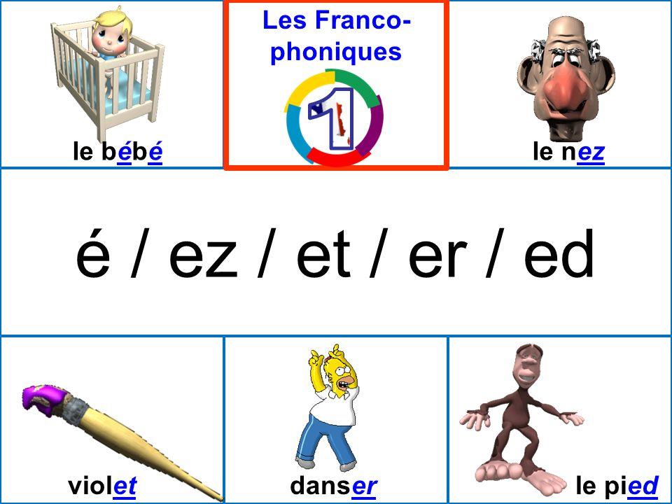 é / ez / et / er / ed 1 Les Franco-phoniques le bébé le nez violet