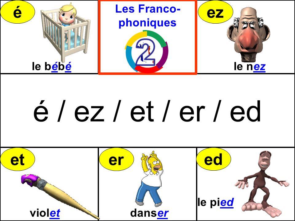 é / ez / et / er / ed é ez et er ed 2 Les Franco-phoniques le bébé