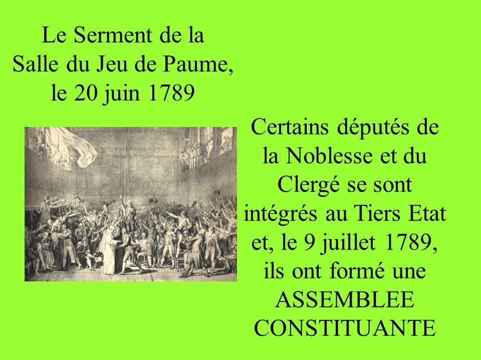 Le Serment de la Salle du Jeu de Paume, le 20 juin 1789