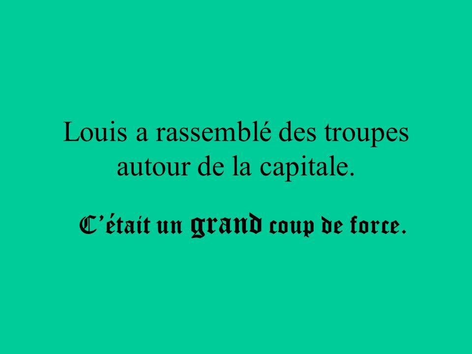 Louis a rassemblé des troupes autour de la capitale.