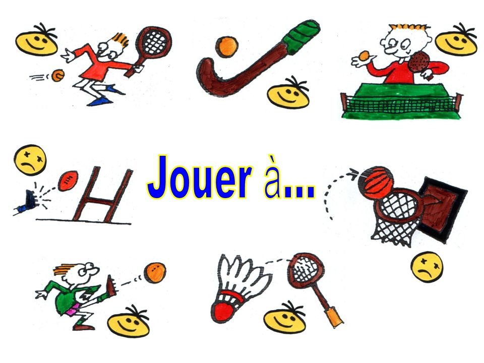 Jouer à...Opportunity to show difference between j'aime + noun and j'aime + infinitive + noun.