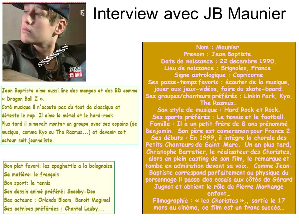 Interview avec JB Maunier