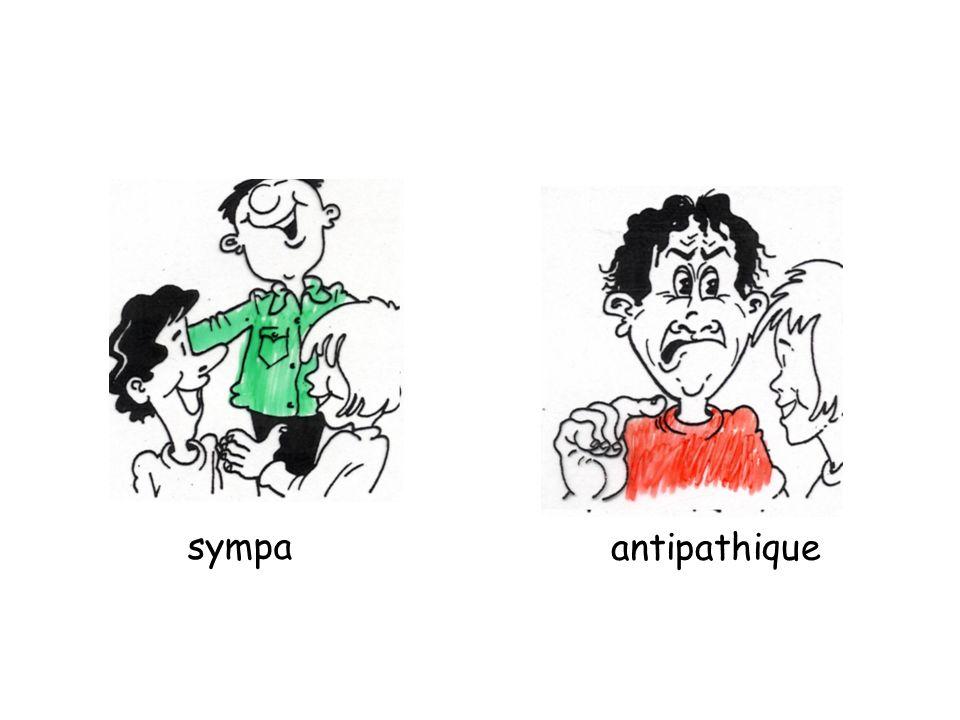 sympa antipathique