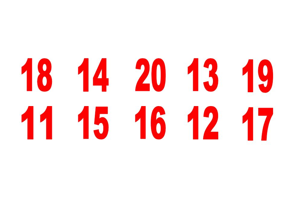 18 14 20 13 19 11 15 16 12 17