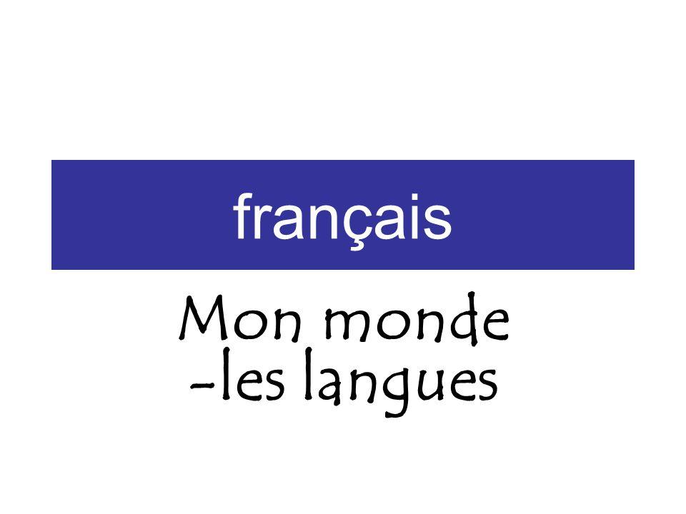 français Mon monde -les langues