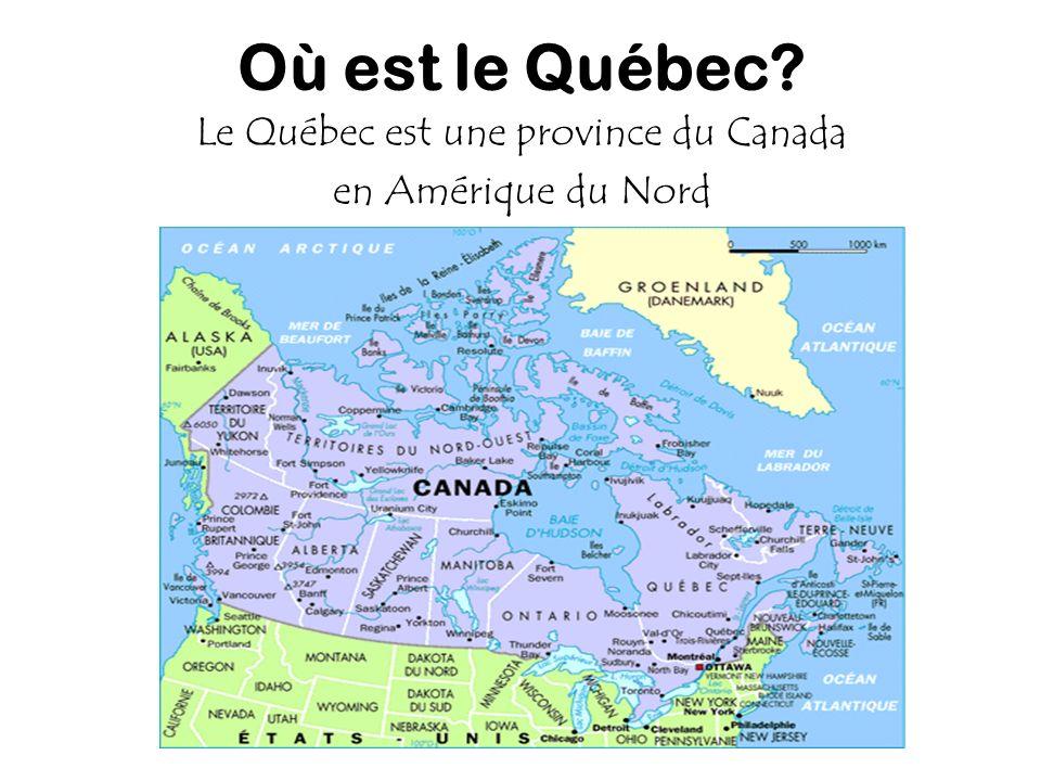 Le Québec est une province du Canada