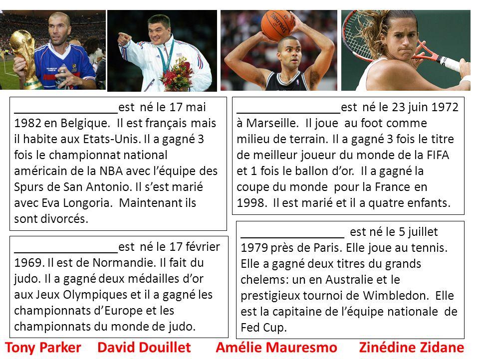 Amélie Mauresmo Zinédine Zidane
