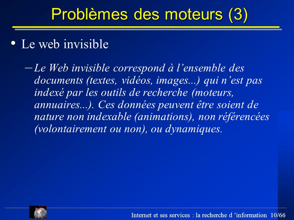 Problèmes des moteurs (3)