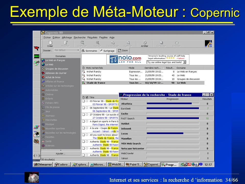 Exemple de Méta-Moteur : Copernic