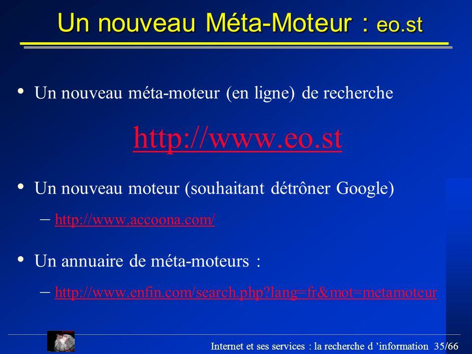 Un nouveau Méta-Moteur : eo.st