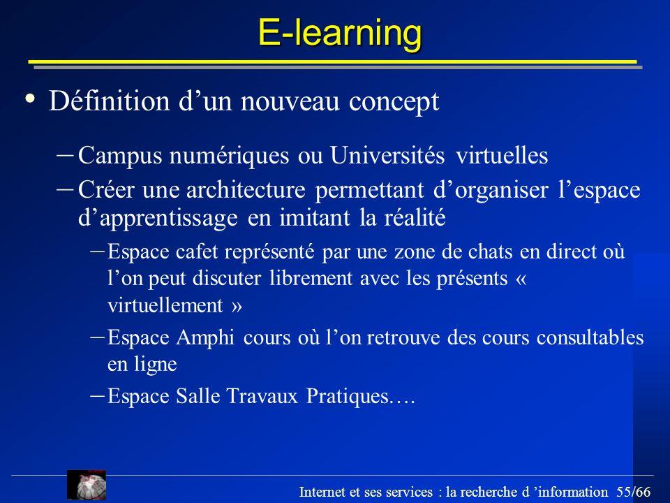 E-learning Définition d'un nouveau concept
