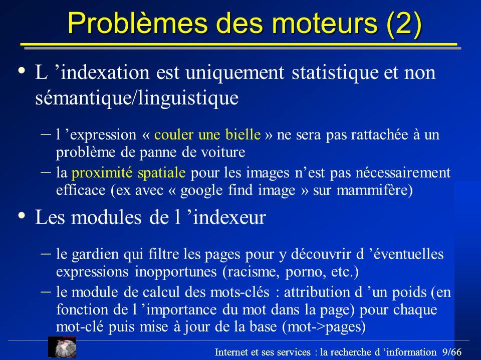 Problèmes des moteurs (2)