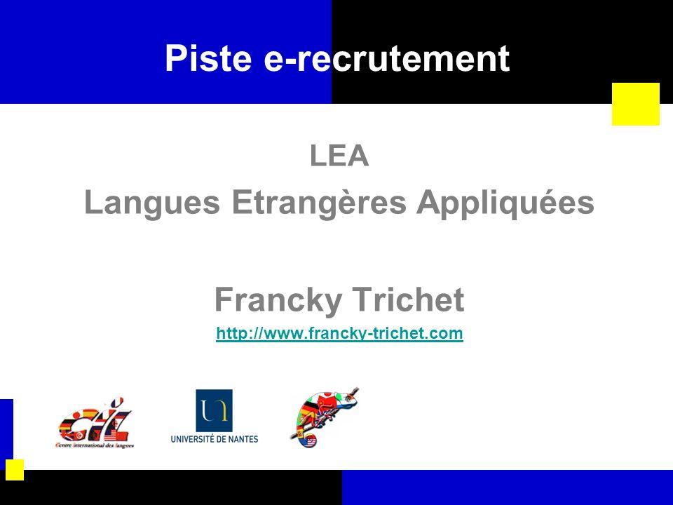 Langues Etrangères Appliquées