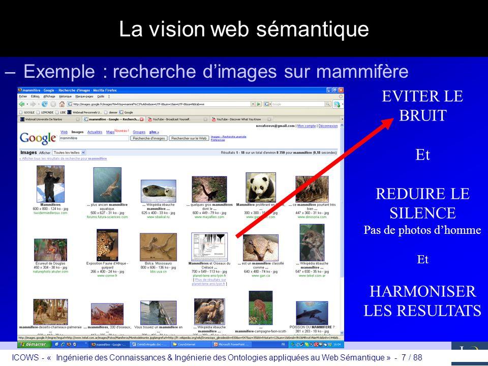 La vision web sémantique