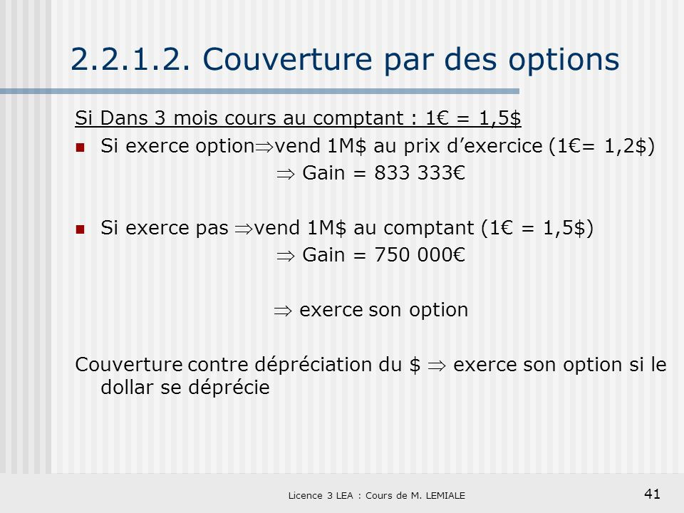 2.2.1.2. Couverture par des options