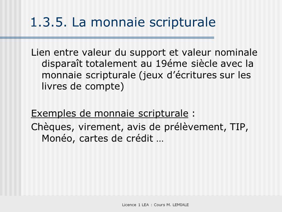 1.3.5. La monnaie scripturale