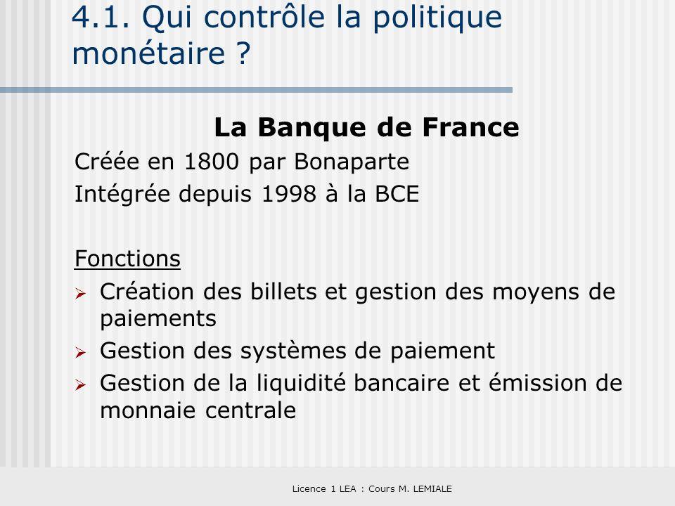 4.1. Qui contrôle la politique monétaire