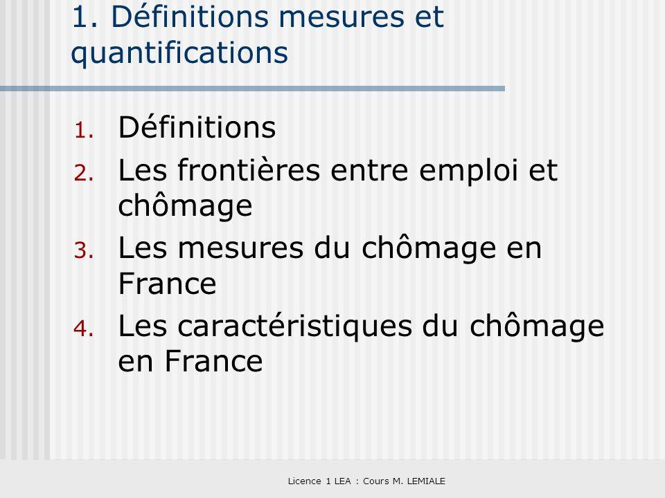 1. Définitions mesures et quantifications