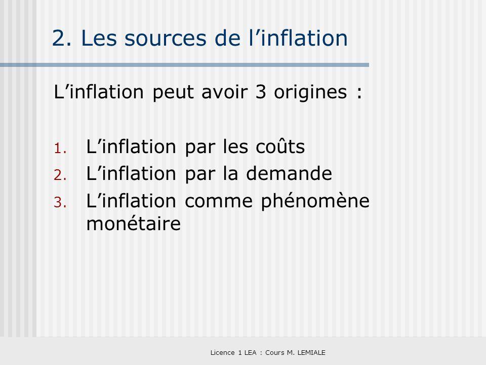 2. Les sources de l'inflation