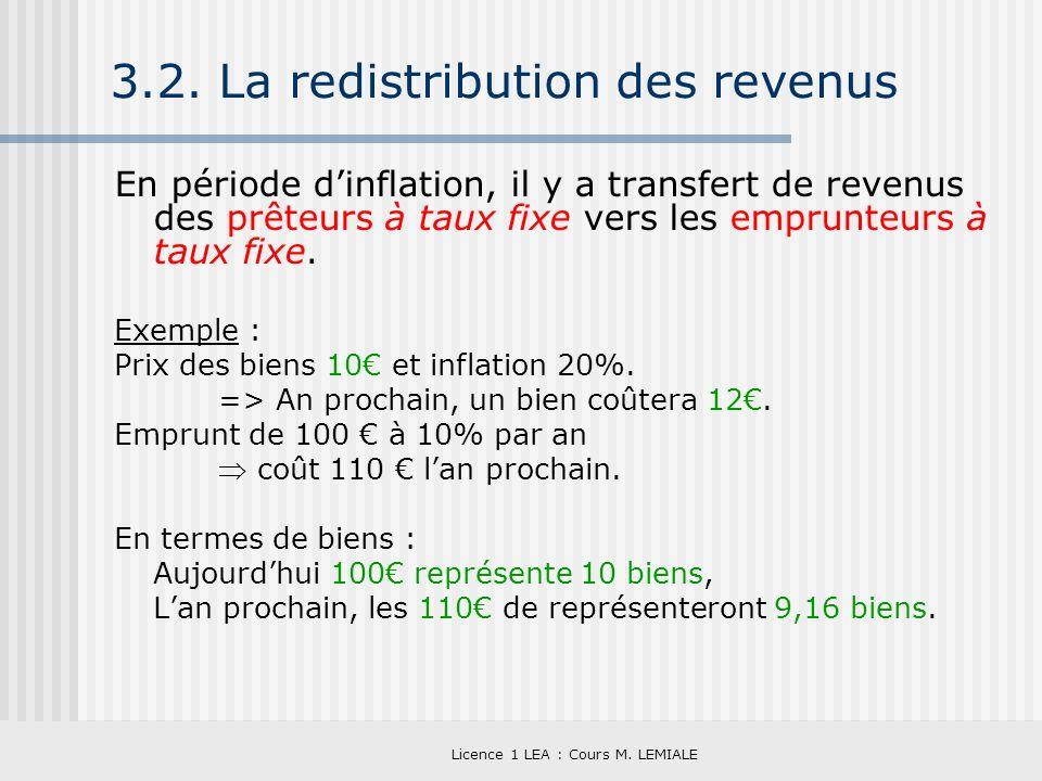 3.2. La redistribution des revenus
