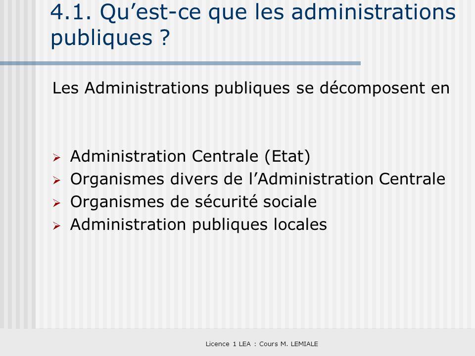 4.1. Qu'est-ce que les administrations publiques