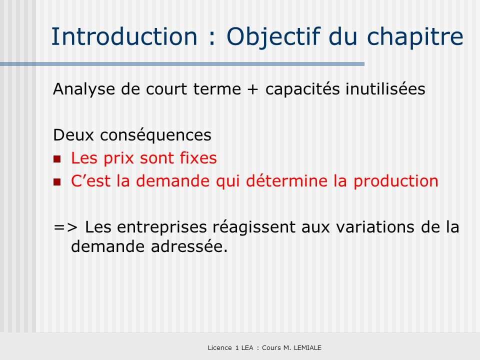 Introduction : Objectif du chapitre