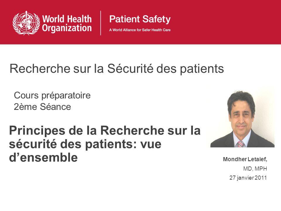 Recherche sur la Sécurité des patients