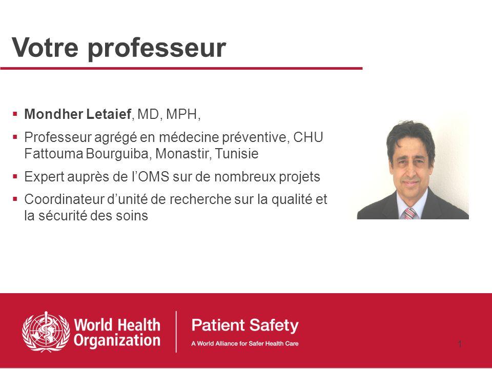 Votre professeur Mondher Letaief, MD, MPH,