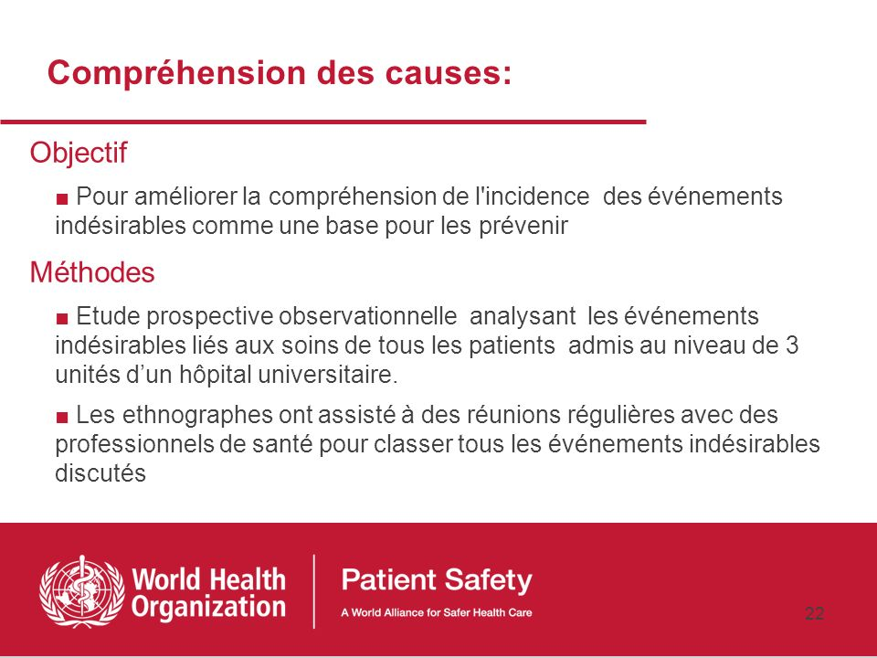 Compréhension des causes: