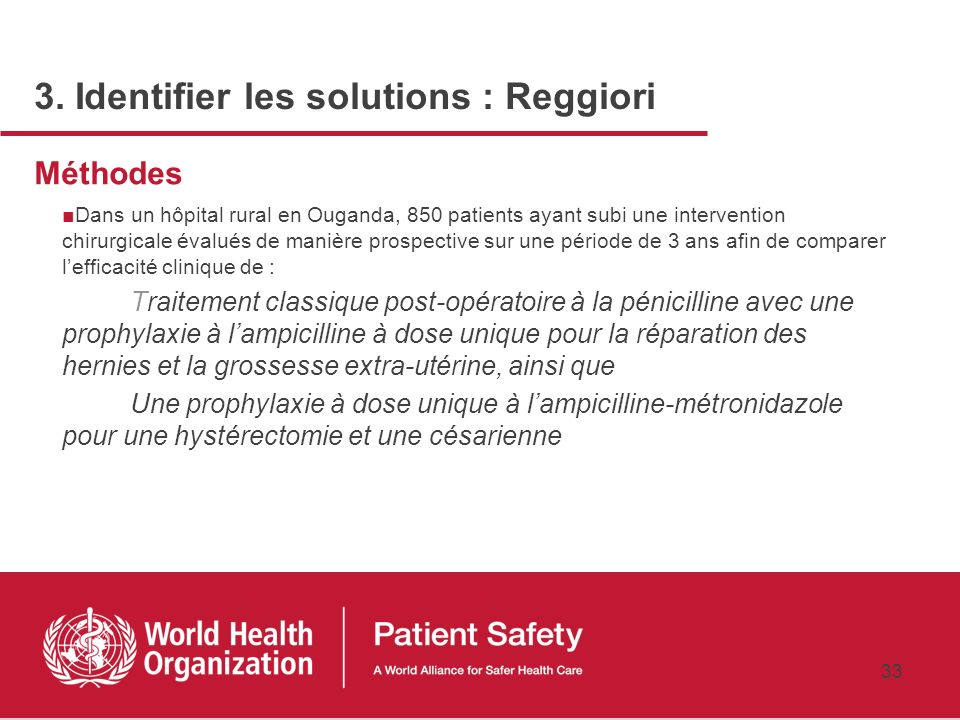 3. Identifier les solutions : Reggiori