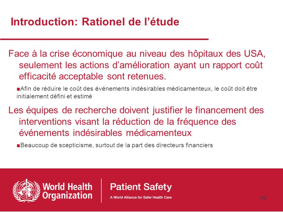 Introduction: Rationel de l'étude