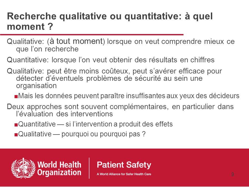 Recherche qualitative ou quantitative: à quel moment