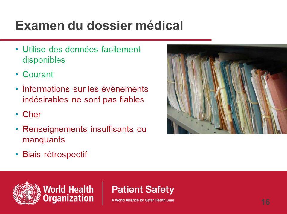 Examen du dossier médical
