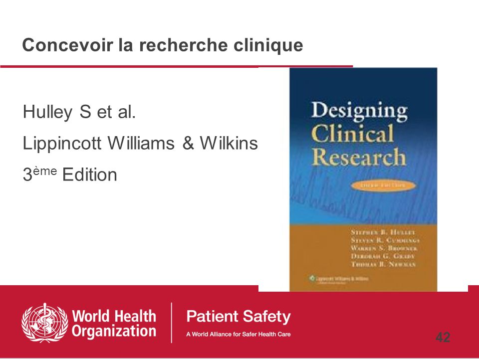 Concevoir la recherche clinique