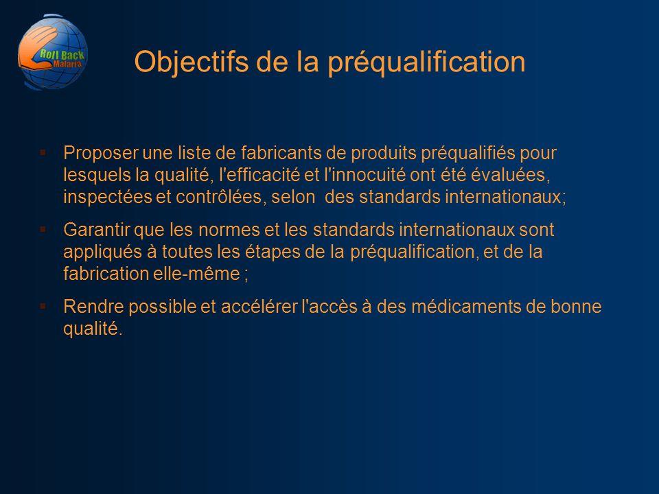 Objectifs de la préqualification