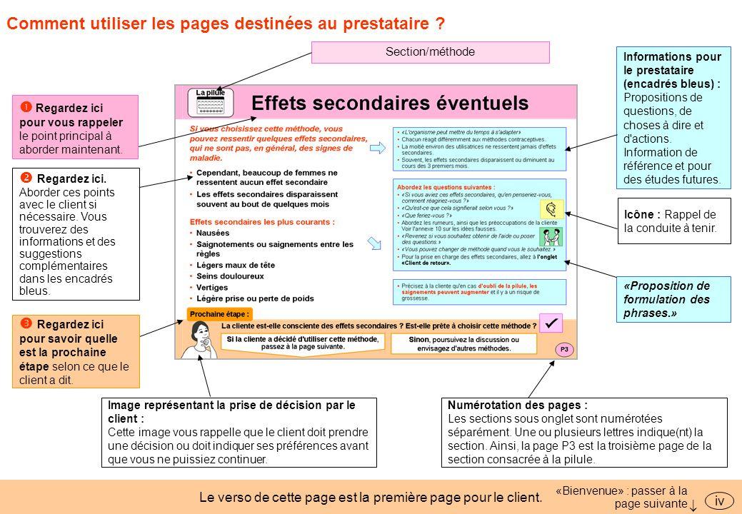 Comment utiliser les pages destinées au prestataire