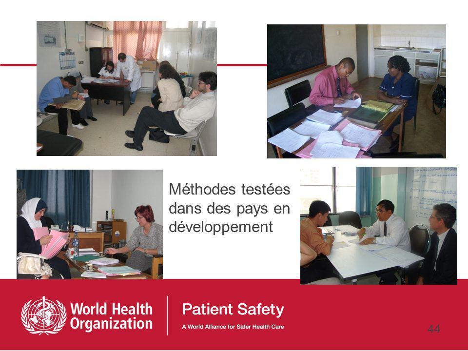 Méthodes testées dans des pays en développement