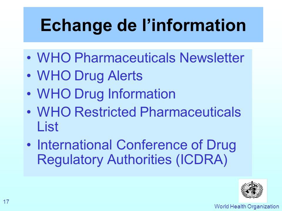 Echange de l'information