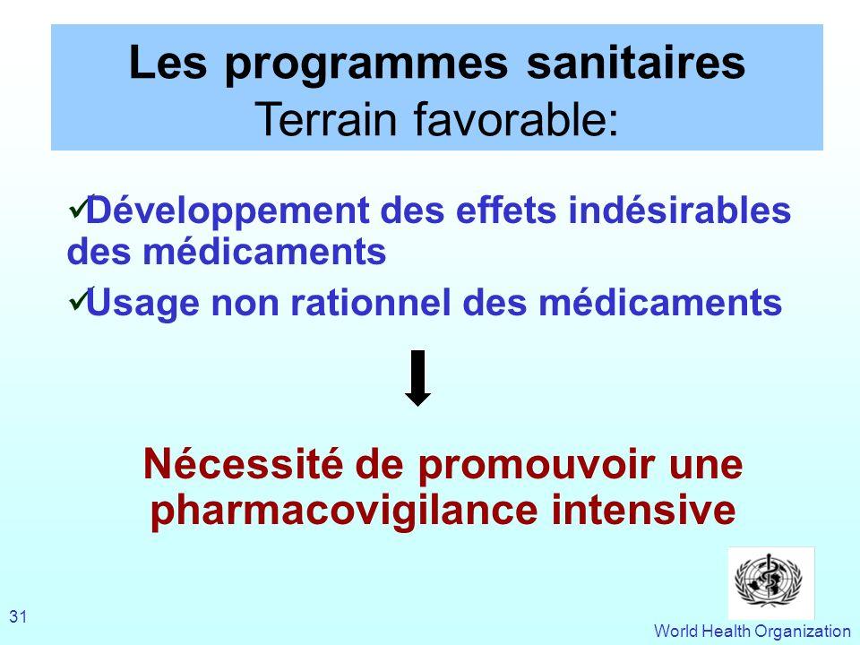 Nécessité de promouvoir une pharmacovigilance intensive