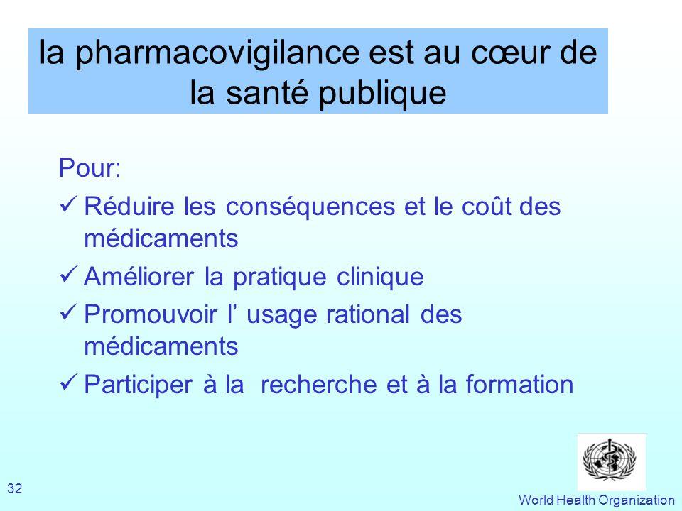 la pharmacovigilance est au cœur de la santé publique