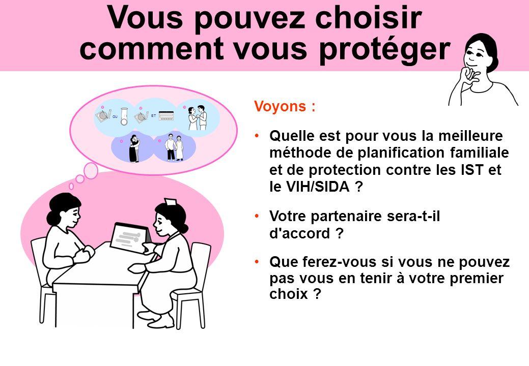 Vous pouvez choisir comment vous protéger