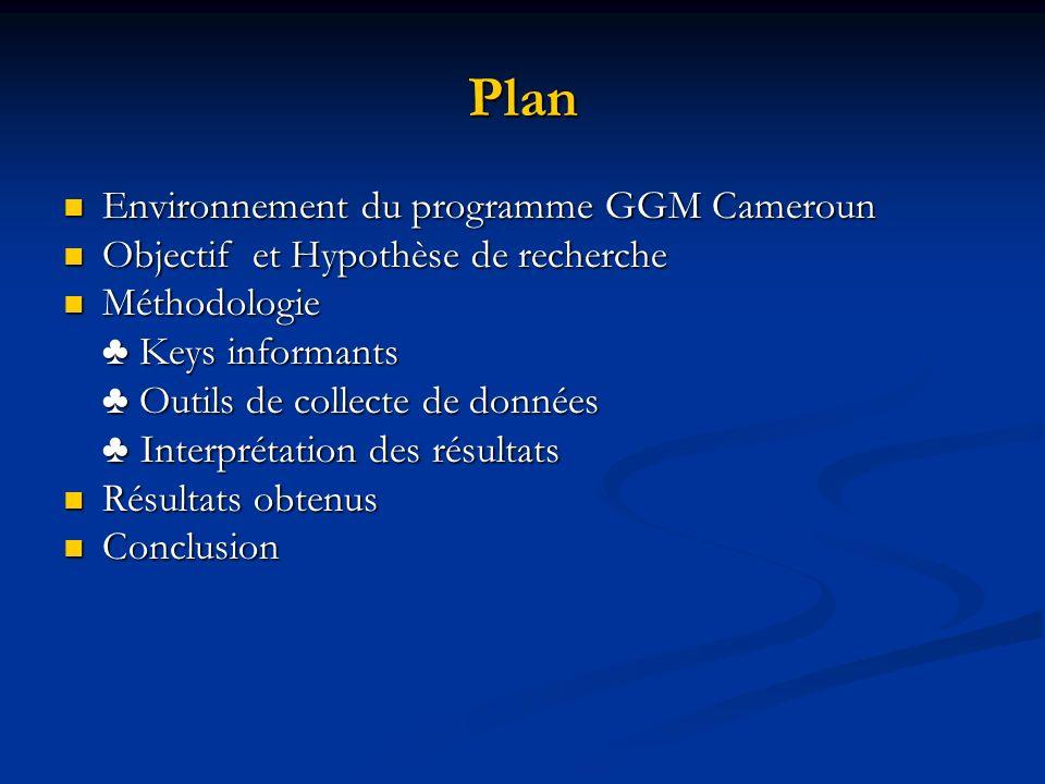 Plan Environnement du programme GGM Cameroun