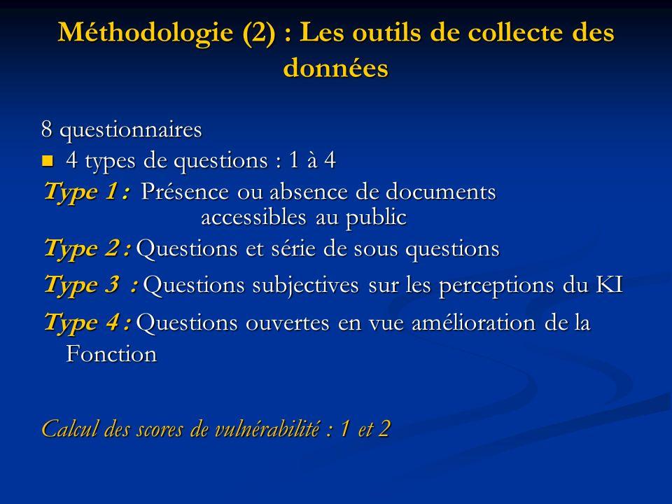 Méthodologie (2) : Les outils de collecte des données