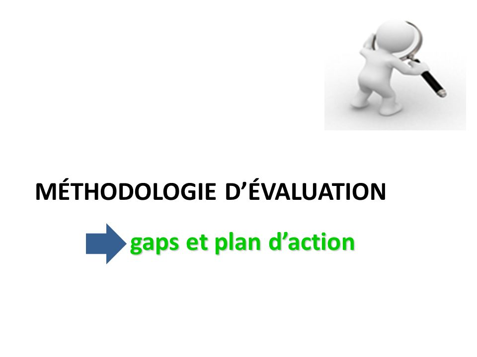 MÉTHODOLOGIE D'ÉVALUATION gaps et plan d'action
