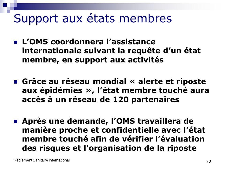 Support aux états membres