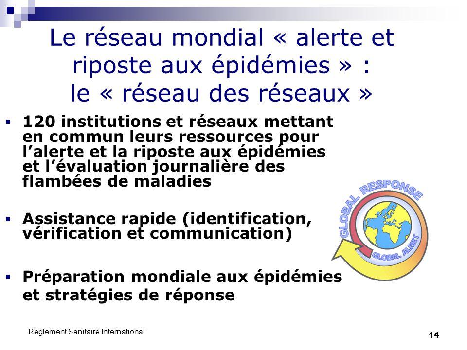 Le réseau mondial « alerte et riposte aux épidémies » : le « réseau des réseaux »