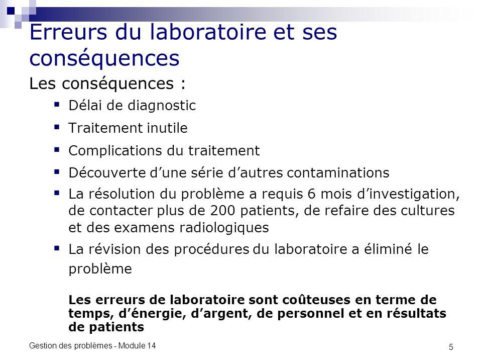 Erreurs du laboratoire et ses conséquences