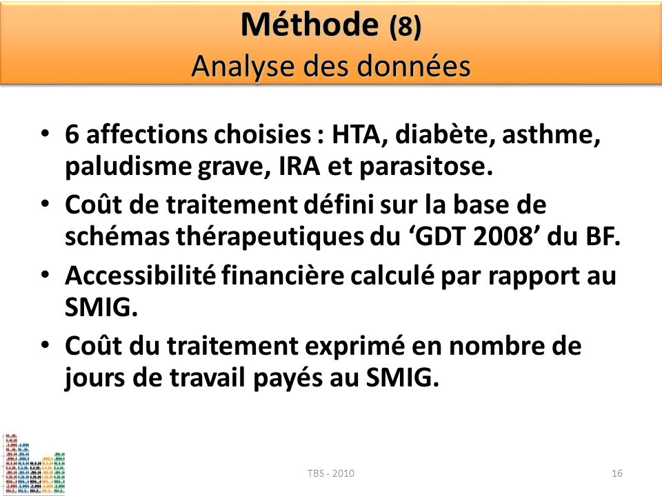 Méthode (8) Analyse des données